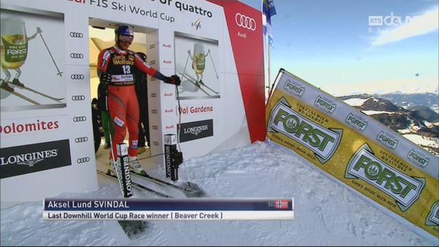 Val Gardena (ITA), descente messieurs: Aksel Lund Svindal (NOR) [RTS]