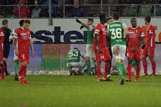 Les Sédunois sonnés après avoir encaissé le 2e but. [Gonzalo Garcia - EQ]