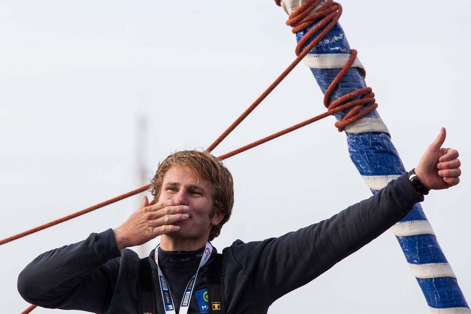 Gabart disputait son 1er tour du monde en multicoques. [Yohan Bonnet - Keystone]