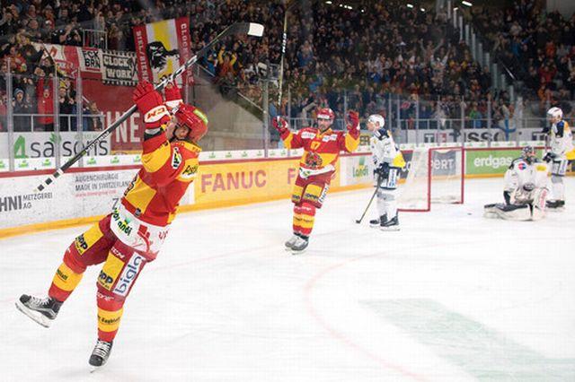 Les Biennois ont offert un beau match à leurs supporters. [Daniel Teuscher - EQ]