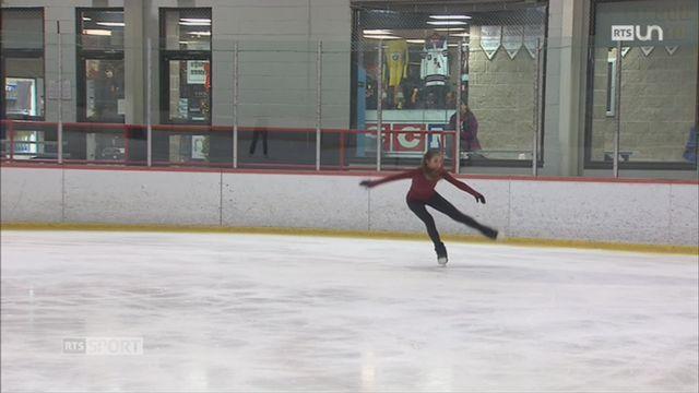 Patinage artistique: Alexia Paganini patinera pour la Suisse aux JO 2018 [RTS]
