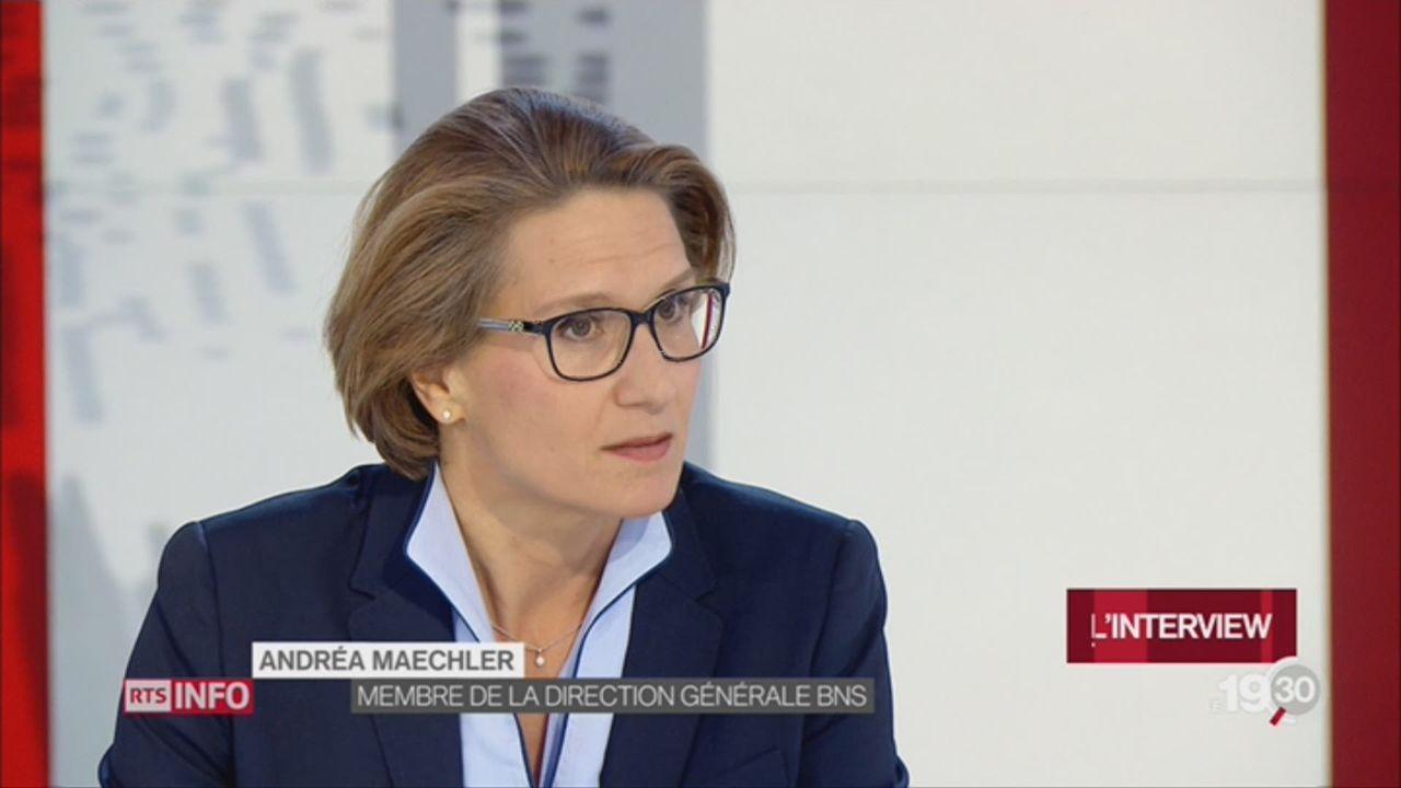 L'interview: Andréa Maechler, membre du directoire de la BNS [RTS]