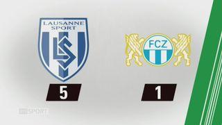19e journée, Lausanne - Zurich (5-1): tous les buts de la rencontre [RTS]