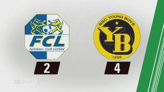 19e journée, Lucerne - Young Boys (2-4): tous les buts de la rencontre [RTS]