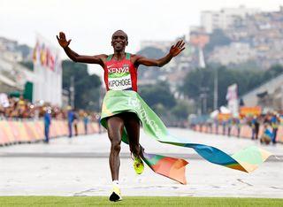 Le coureur kenyan Eliud Kipchoge. [Diego Azubel - EPA / Keystone]