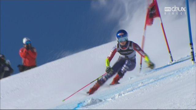 Courchevel (FRA), slalom dames, 1re manche: Mikaela Shiffrin (USA) remporte la 1re manche [RTS]