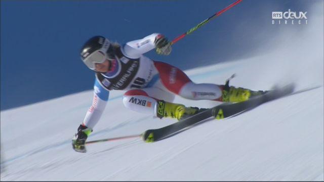 Courchevel (FRA), slalom dames, 1re manche: Simone Wild (SUI) [RTS]