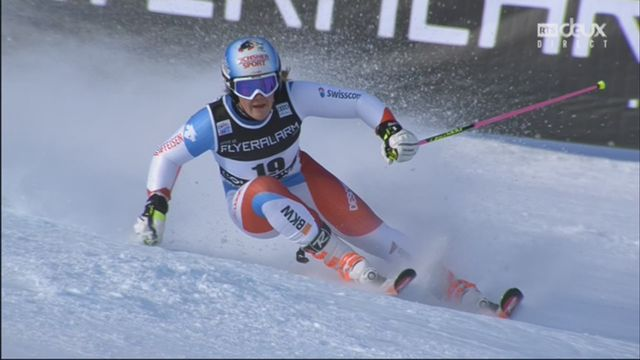 Courchevel (FRA), slalom dames, 1re manche: Melanie Meillard (SUI) [RTS]