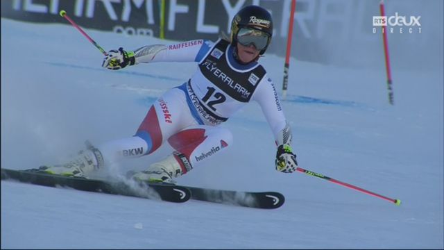 Courchevel (FRA), slalom géant dames, 2e manche: Lara Gut (SUI) [RTS]
