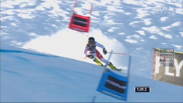Courchevel (FRA), slalom géant dames, 2e manche: Simone Wild (SUI) [RTS]