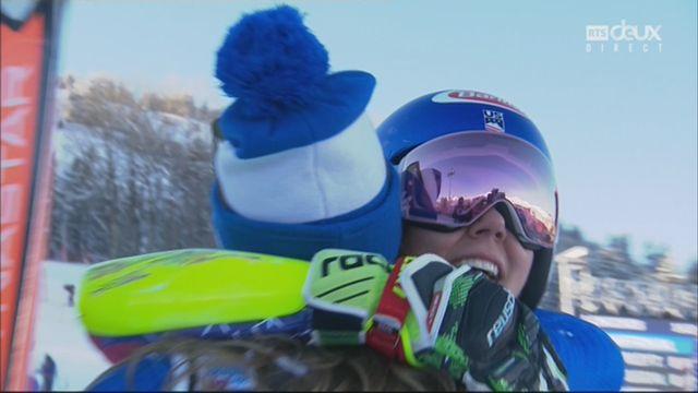 Courchevel (FRA), slalom géant dames, 2e manche: Mikaela Shiffrin (USA) s'impose [RTS]