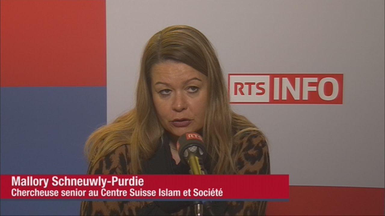 L'invitée d'actualité (vidéo) - Mallory Schneuwly Purdie, chercheuse senior au Centre Suisse Islam et Société [RTS]