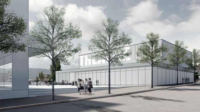 Image de synthèse du projet, vu de la Rue de la Brasserie. [GXM Le Ticle]