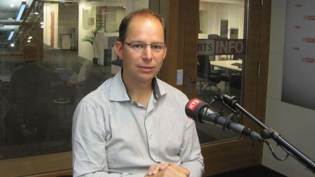 Cédric Jotterand, rédacteur en chef du Journal de Morges. [Sylvain Michel - RTS]