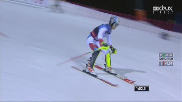 Madonna Di Campiglio (ITA), slalom messieurs, 2e manche: Loic Meillard (SUI) part à la faute [RTS]