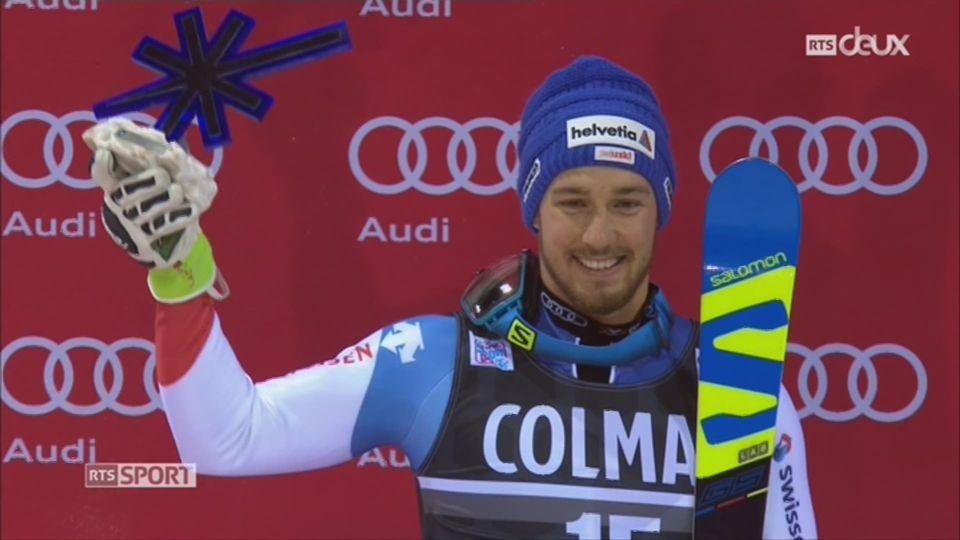 Ski - Slalom de Madonna: Luca Aerni finit deuxième [RTS]