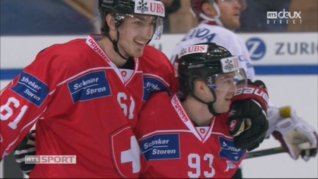 Groupe Torriani, Team Suisse – Dinamo Riga (6-1): 58e Martschini [RTS]