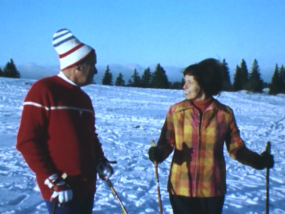Ma première leçon de ski de fond. [RTS]