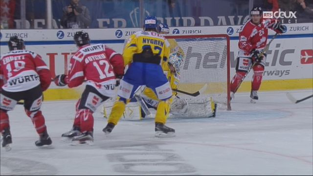 Groupe Cattini, Team Canada - HC Davos (2-1): 31e, A. Ebbett [RTS]