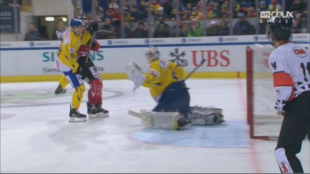 Groupe Cattini, Team Canada - HC Davos (1-1): 29e, A. Ebbett [RTS]