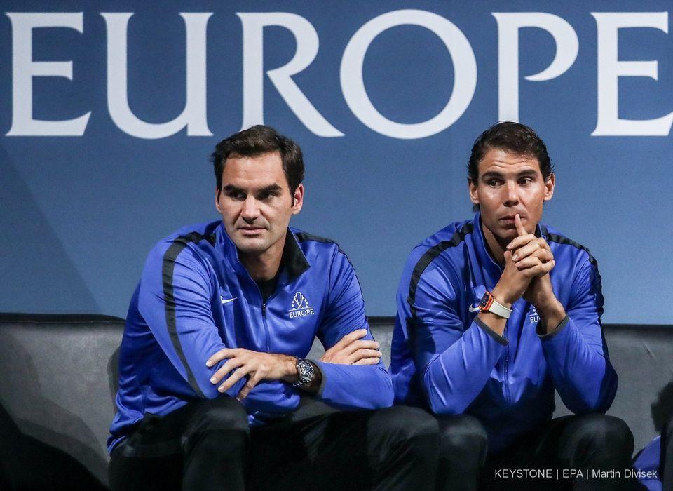 Roger Federer et Rafael Nadal ont marqué de leur empreinte l'année 2017. [Martin Divisek - Keystone]