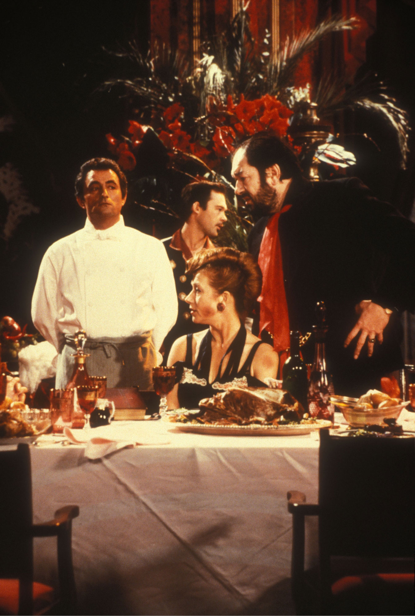 "Une scène du film ""The Cook, the Thief, his Wife and her Lover"" de Peter Greenaway."