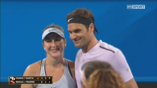 Japon - Suisse, Osaka-Sugita - Bencic-Federer (4-2, 1-4, 3-4) [RTS]