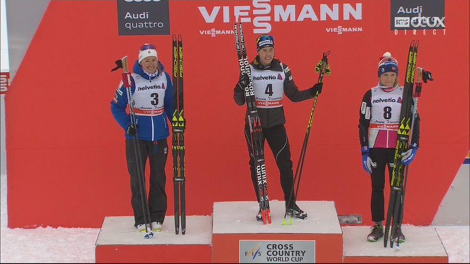 Tour de ski, Lenzerheide (SUI), sprint 1.5 km dames: le podium [RTS]