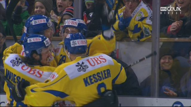Demi-finale, Team Suisse - HC Davos (2-1): 12e, V. Praplan [RTS]