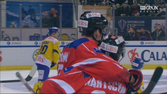 Demi-finale, Team Suisse - HC Davos (8-3): 49e, G. Hofmann [RTS]