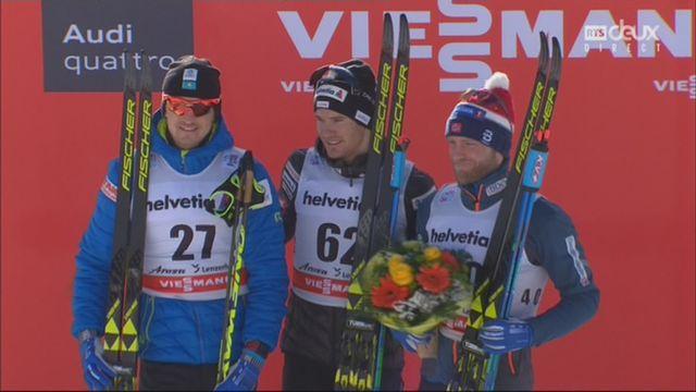 Tour de ski, 15 km: la joie du Suisse sur le podium [RTS]