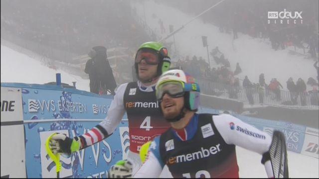Oslo (NOR), slalom parallèle masculin, demi-finale: Luca Aerni (SUI) n'y parvient pas [RTS]