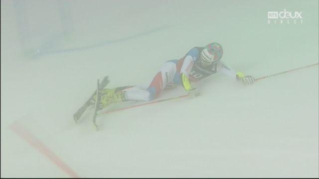 Oslo (NOR), slalom parallèle masculin, demi-finale: la chute de Daniel Yule (SUI) ! [RTS]