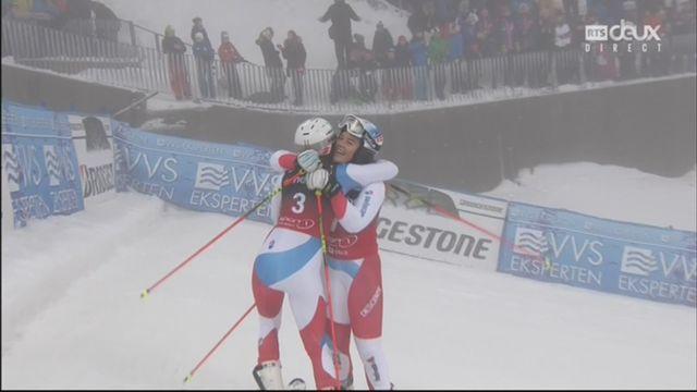 Oslo (NOR), slalom parallèle féminin, demi-finale: le duel des Suissesses gagné par Holdener [RTS]