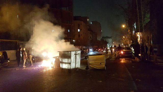 Scènes de violence à Téhéran, en Iran, le 30 décembre dernier. [Reuters]