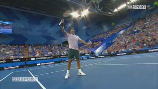 Russie - Suisse, Khachanov - Federer (3-6, 6-7) [RTS]