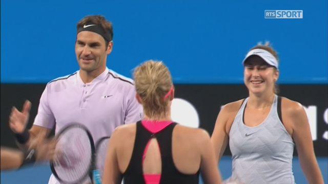 Russie - Suisse, Pvlyuchenkova-Khachanov - Bencic-Federer (3-4, 4-3, 1-4) [RTS]