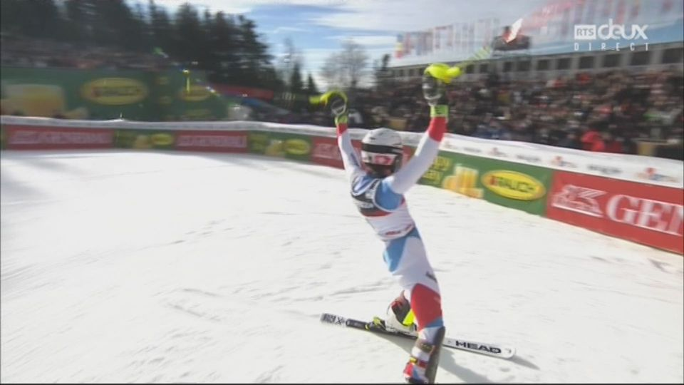 Zagreb (CRO), slalom féminin, 1re manche: Wendy Holdener (SUI) [RTS]
