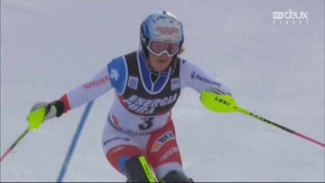 Zagreb (CRO), slalom féminin, 1re manche: Melanie Meillard (SUI) [RTS]