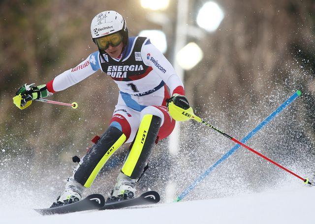 Holdener pourrait bien décrocher son 17e podium en Coupe du monde à Zagreb. [Giovanni Auletta - Keystone]