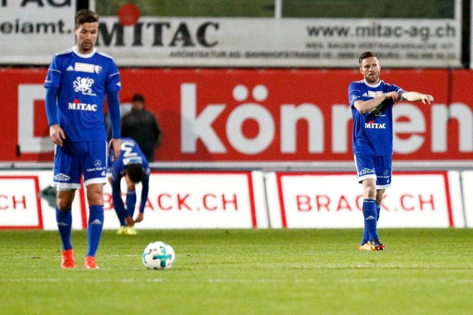 Le FC Wohlen ne poursuivra pas l'aventure en Challenge League. [Marc Schumacher/freshfocus]