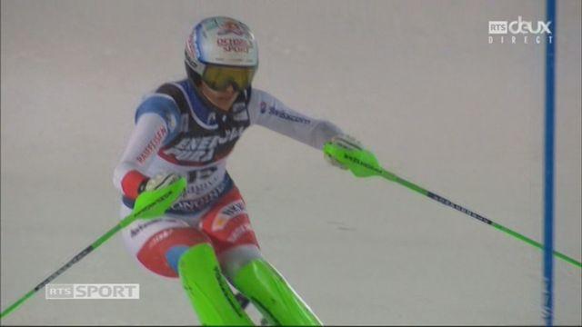Zagreb (CRO), slalom féminin, 2e manche: Denise Feierabend (SUI) [RTS]