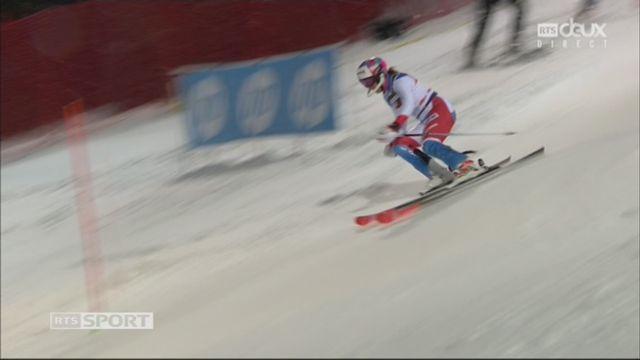 Zagreb (CRO), slalom féminin, 2e manche: Michelle Gisin (SUI) [RTS]
