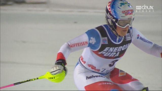 Zagreb (CRO), slalom féminin, 2e manche: Melanie Meillard (SUI) [RTS]