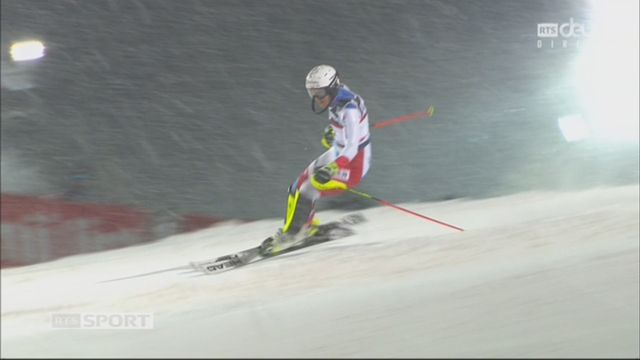 Zagreb (CRO), slalom féminin, 2e manche: Wendy Holdener (SUI) [RTS]