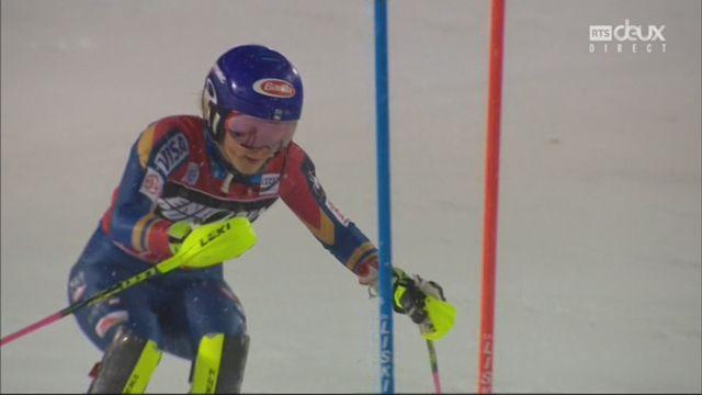 Zagreb (CRO), slalom féminin, 2e manche: Mikaela Shiffrin (USA) s'impose ! [RTS]