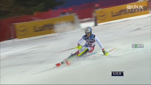 Zagreb (CRO), Slalom messieurs, 2e manche: Loic Meillard (SUI) [RTS]
