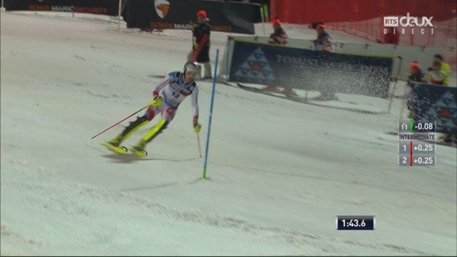 Zagreb (CRO), Slalom messieurs, 2e manche: Daniel Yule (SUI) [RTS]