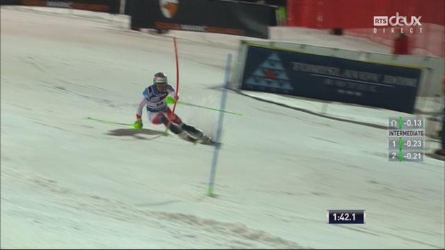 Zagreb (CRO), Slalom messieurs, 2e manche: Luca Aerni (SUI) [RTS]