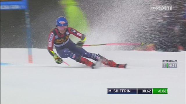 Maribor (SLO), géant dames, 1re manche: Mikaela Shiffrin (USA) est en tête à l'issu de la première manche [RTS]